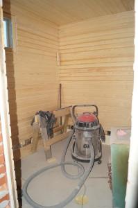 Saunaan laitettu seinäpanelit