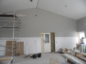 Salin puolella myös panelit ja tapetti seinissä alkukesästä 2014